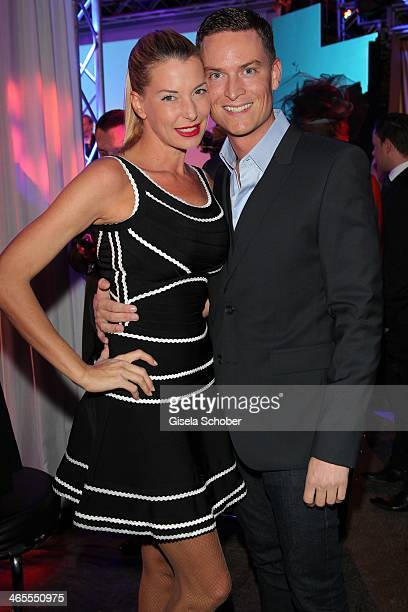 Giulia Siegel and boyfriend Frank Buechtmann attend the Lambertz Monday Night at Alter Wartesaal on January 27 2014 in Cologne Germany
