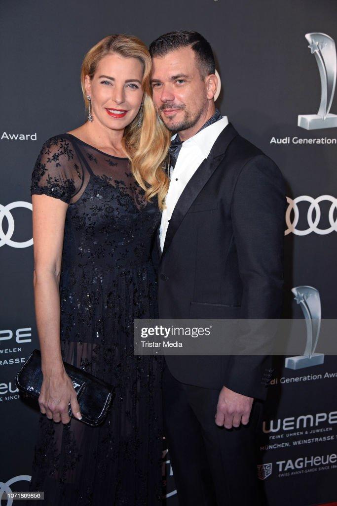 Giulia Siegel and her boyfriend Ludwig Heer arrive at Audi ...