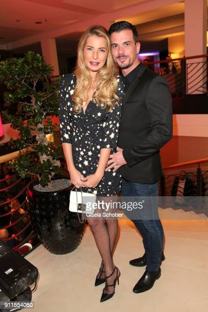 Giulia Siegel and her boyfriend Ludwig Heer during the Lambertz Monday Night pre dinner at Hotel Marriott on January 28 2018 in Cologne Germany