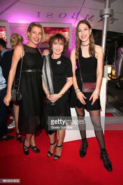 Giulia Siegel and her mother Dunja Siegel and her half sister Alana Siegel during the surprise party for the worldwide comeback of Ralph Siegels band...