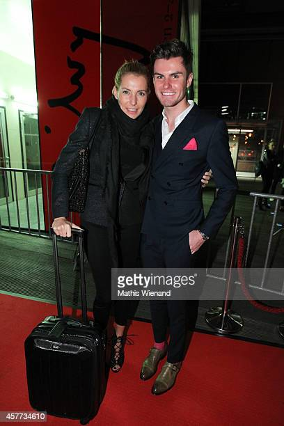 Giulia Siegel and PaulHenry Duval attends the InTouch Awards 2014 at Port Seven on October 23 2014 in Duesseldorf Germany