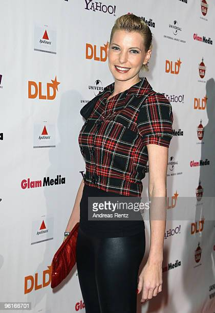 Giulia Siegel arrives for the DLD Starnight at Haus der Kunst on January 25 2010 in Munich Germany