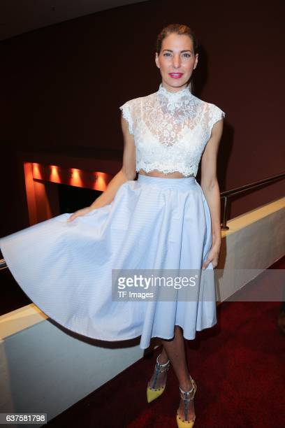 Giulia Siegel attend the premiere of the Mary Poppins musical at Stage Apollo Theater on October 23 2016 in Stuttgart Germany