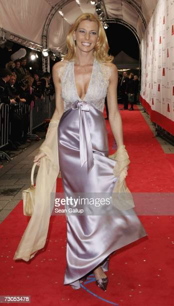 Giulia Siegel attends the 34th annual German Film Ball at the Bayerischer Hof Hotel January 20 2007 in Munich Germany