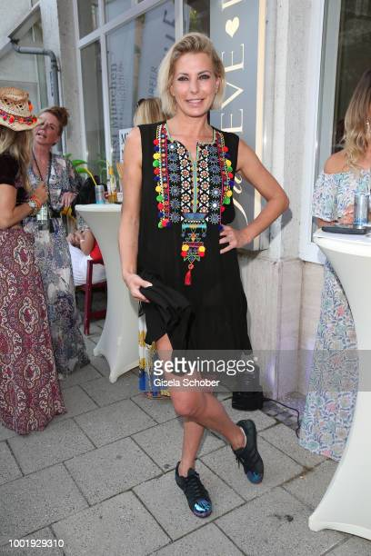Curvy model Nadine Mirada during the 'Just Eve' Boho Party and 'Boho Love' jewelry presentation on July 19 2018 in Munich Germany