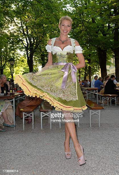 Giulia Siegel attends the 'Ladies Dirndl Dinner 2013' at Paulaner am Nockherberg on July 16 2013 in Munich Germany