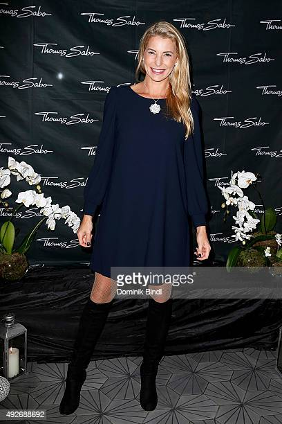Giulia Siegel attends the Thomas Sabo grand flagship store opening on October 14 2015 in Munich Germany