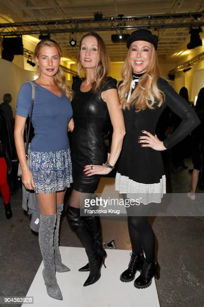 Giulia Siegel Renata Kochta and Sylvia Walker during the Rodenstock Eyewear Show on January 12 2018 in Munich Germany