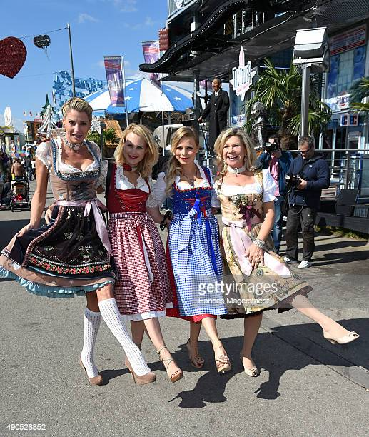 Giulia Siegel Sonja Kiefer Regina Halmich and Marianne Hartl attend the Ladies Lunch at Fisch Baeda during the Oktoberfest 2015 at Theresienwiese on...