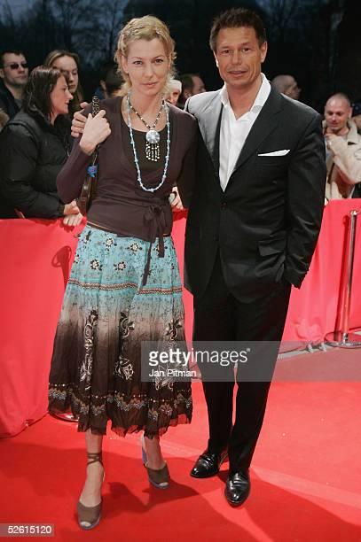 Giulia SiegelWehrmann and her husband Hans Wehrmann attend the Babynator film premiere at the Maxx cinema on April 11 2005 in Munich Germany