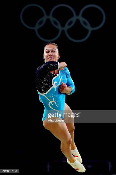 Giulia Steingruber of Switzerland competes in the Women's Vault Final on Day 9 of the Rio 2016 Olympic Games at the Rio Olympic Arena on August 14...