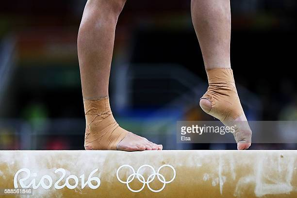 Giulia Steingruber of Switzerland competes on the balance beam during the Women's Individual All Around Final on Day 6 of the 2016 Rio Olympics at...
