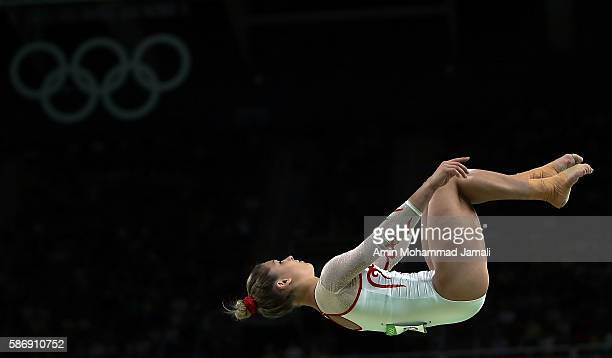 Giulia Steingruber of Switzerland in action on the balance beam during Women's qualification for Artistic Gymnastics on Day 2 of the Rio 2016 Olympic...