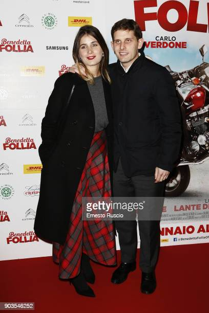 Giulia Verdone and Paolo Verdone attend 'Benedetta Follia' photocall on January 10, 2018 in Rome, Italy.