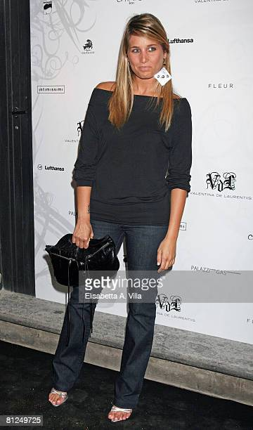 Giulia Verdone attends the Antonella De Laurentis fashion creation launch at Fleurs on May 27, 2008 in Rome, Italy.