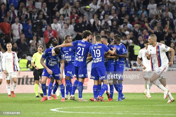 Giulian BIANCONE during the Ligue 1 Uber Eats match between Lyon and Troyes at Groupama Stadium on September 22, 2021 in Lyon, France.