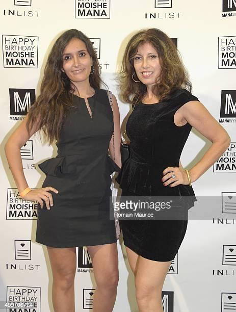 Giuliana Barrera and Angela Mazzhi attends InList 1 Year Anniversary and Moishe Mana Birthday at Mana Wynwood on December 2 2015 in Miami Florida
