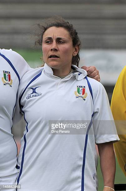 Giuliana Campanella of Italy poses for a team photo prior to the Women's European Cup match between Italy and Spain on May 19 2012 in Rovereto Italy
