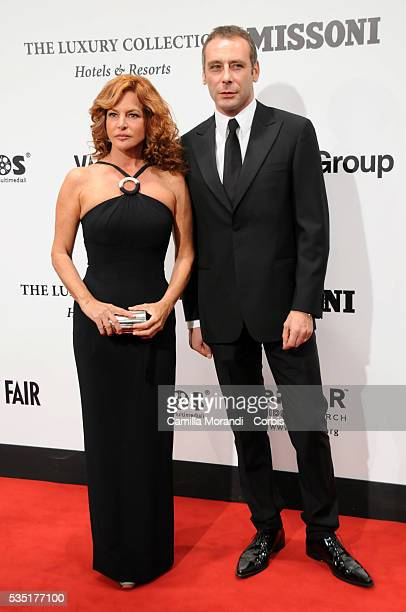 Giuliana De Sio and guest arrive at the AmFar Cinema Against HIV 2008 Gala and Auction during the 2008 Rome International Film Festival