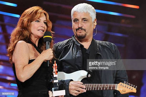 Giuliana De Sio and Pino Daniele during the Wind Music Awards on June 7 2009 in Verona Italy