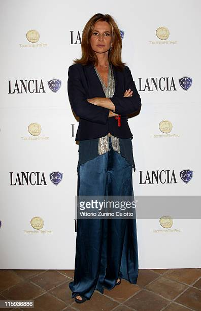 Giuliana de Sio attend cocktail party hosted by the Lancia Cafe during the 57th Taormina Film Fest on June 12 2011 in Taormina Italy