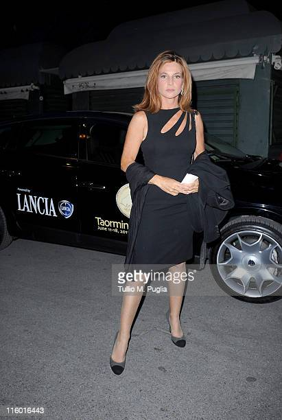 Giuliana de Sio attend cocktail party hosted by the Lancia Cafe during the 57th Taormina Film Fest on June 13 2011 in Taormina Italy