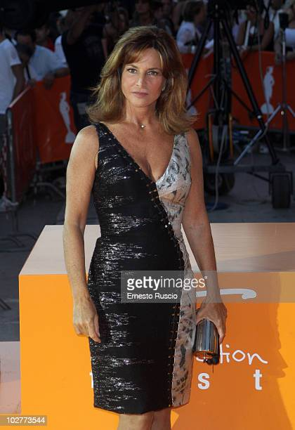 "Giuliana De Sio attends the attends day five of the ""Il Peccato E La Vergogna"" premiere at Adriano cinema of Roma Fiction Fest on July 9, 2010 in..."