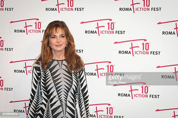 "Giuliana De Sio walking on the red carpet of the film ""Amore Pensaci Tu"", a film directed by Francesco Pavolini and Vincenzo Terracciano."