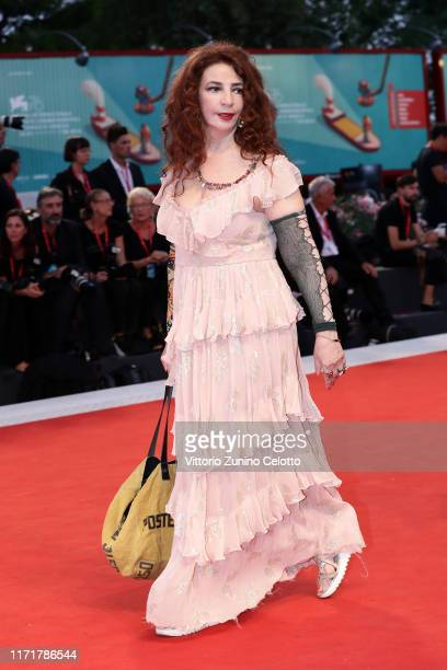 Giuliana De Sio walks the red carpet ahead of the Martin Eden screening during the 76th Venice Film Festival at Sala Grande on September 02 2019 in...