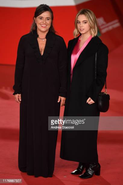 Giuliana Pavarotti and Caterina Lo Sasso attend the 'Pavarotti' red carpet.