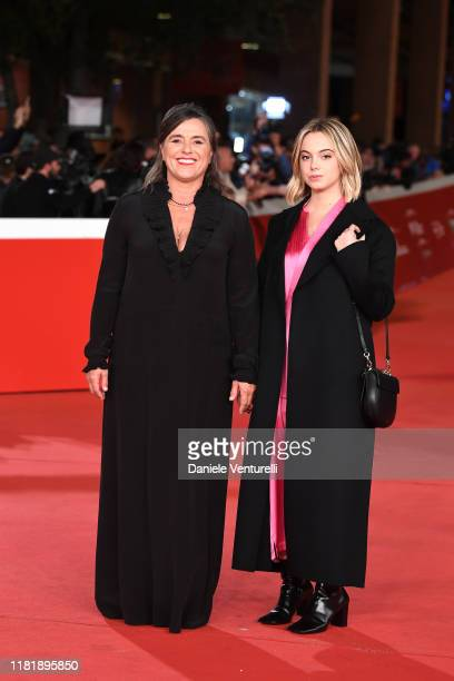 Giuliana Pavarotti and Caterina Lo Sasso attend the Pavarotti red carpet during the 14th Rome Film Festival on October 18 2019 in Rome Italy