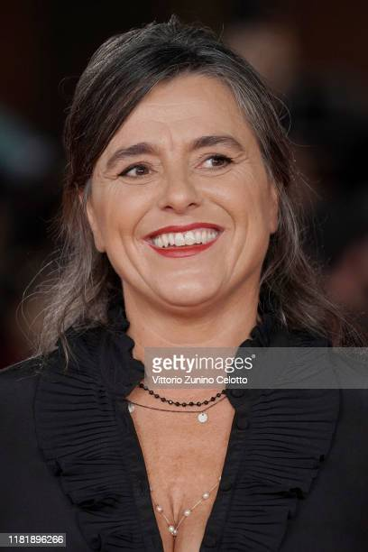"Giuliana Pavarotti attends the ""Pavarotti"" red carpet during the 14th Rome Film Festival on October 18, 2019 in Rome, Italy."