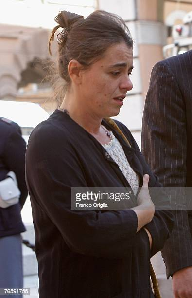 Giuliana Pavarotti departs Luciano Pavarotti's funeral held in Modena's Duomo on September 8 2007 in Modena Italy Pavarotti died of pancreatic cancer...