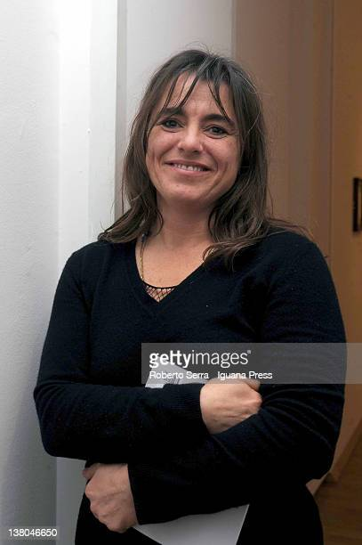 Giuliana Pavarotti poses at Morandi Museum on February 1, 2012 in Bologna, Italy. Cristina and Giuliana Pavarotti, daughters of the famous tenor...