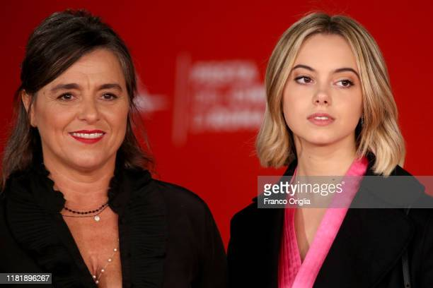 Giuliana Pavarotti, the daughetr of late Italian tenor Luciano Pavarotti and Luciano Pavarotti's granddaughter Caterina Lo Sasso attend the...
