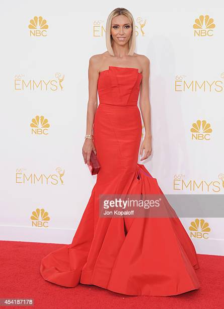 Giuliana Rancic arrives at the 66th Annual Primetime Emmy Awards at Nokia Theatre LA Live on August 25 2014 in Los Angeles California