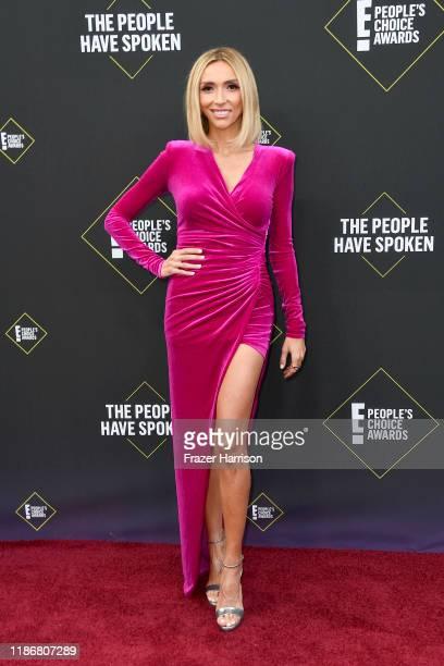 Giuliana Rancic attends the 2019 E People's Choice Awards at Barker Hangar on November 10 2019 in Santa Monica California