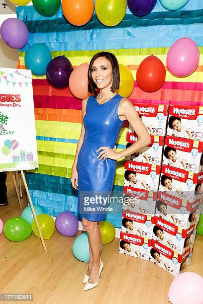 Giuliana Rancic donates toys from Duke's 1st birthday party and helps distribute 1000 Huggies Snug Dry Diapers at the Baby2Baby warehouse on August...