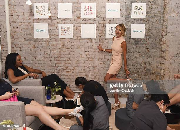 Giuliana Rancic revealed how COMPEED Blister Cushions are her favorite solution for relieving blister pain at a prepforsummer pedicure event on May...