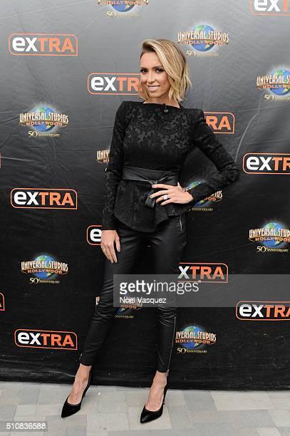 Giuliana Rancic visits 'Extra' at Universal Studios Hollywood on February 17 2016 in Universal City California