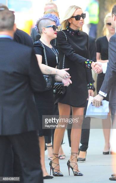 Giuliani Rancic and Kelly Osbourne attends the Joan Rivers memorial service at Temple Emanu-El on September 7, 2014 in New York City.