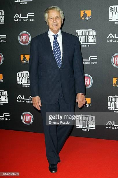 Giuliano Gemma attends the 'C'era Una Volta In America Director's Cut' premiere at Space Moderno on October 16 2012 in Rome Italy