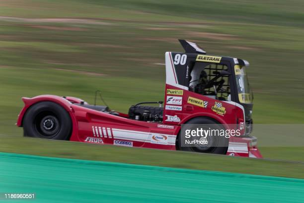 Giuliano Lossaco competes during the final and decisive stage of the Copa Truck on 6 December 2019 at the Interlagos Circuit Sao Paulo will have the...
