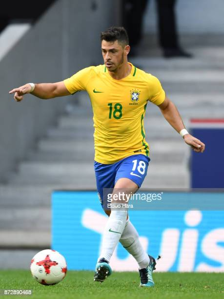 Giuliano of Brazil in action during the international friendly match between Brazil and Japan at Stade PierreMauroy on November 10 2017 in Lille...