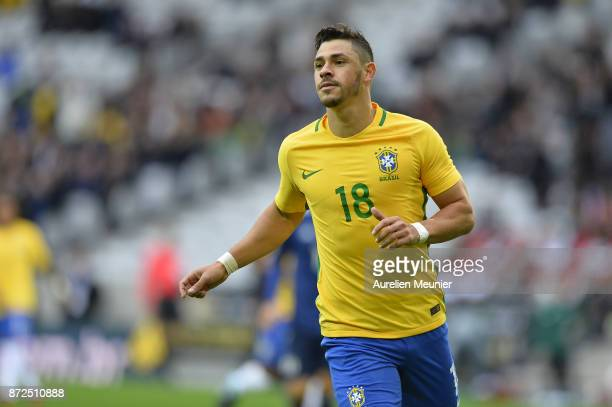 Giuliano of Brazil reacts during the international friendly match between Brazil and Japan at Stade PierreMauroy on November 10 2017 in Lille France