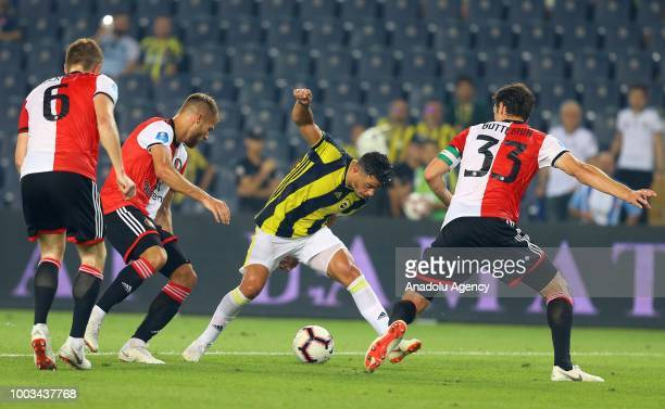 Giuliano of Fenerbahce in action during a friendly match between Fenerbahce and Feyenoord at the Ulker Stadium in Istanbul Turkey on July 21 2018
