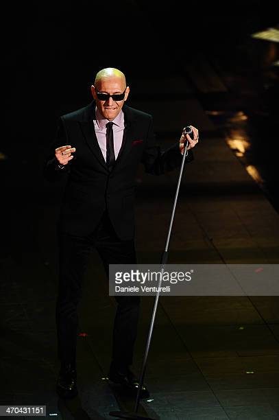 Giuliano Palma attends second night of the 64th Festival di Sanremo 2014 at Teatro Ariston on February 19, 2014 in Sanremo, Italy.