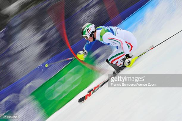 Giuliano Razzoli of Italy competes during the Men's Slalom on day 16 of the Vancouver 2010 Winter Olympics at Whistler Creekside on February 27 2010...