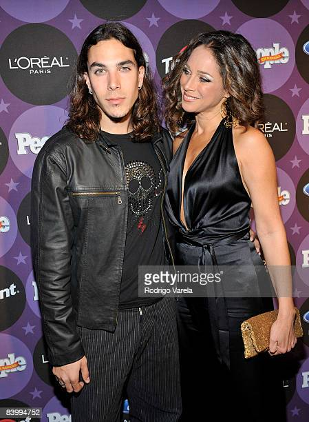 Giuliano Rios Dominicci and Carmen Dominicci attends People En Espanol Celebrating The 2008 Stars of the Year Issue at Grass Lounge on December 10...