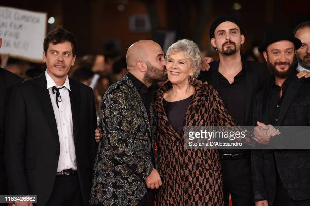 Giuliano Sangiorgi and Caterina Caselli attend the red carpet of the movie Negramaro L'anima vista da qui during the 14th Rome Film Festival on...